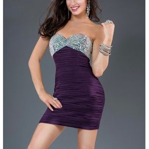 Jovani Short Dress Plum Color